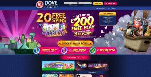 Dove Slots Homepage