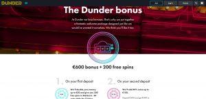 Dunder Bonus Page
