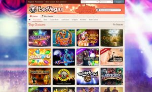 LeoVegas Top Games