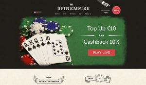 Spin Empire Homepage