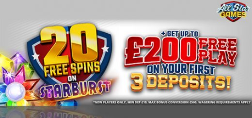 All Star Games Casino Free Spins