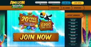 Amazon Slots Casino Homepage