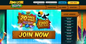 Amazon Slots Casino Homepage