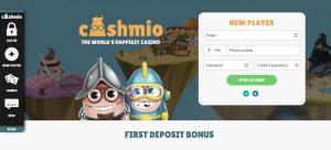 Cashmio Casino Homepage