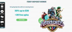 Cashmio Casino First Deposit Bonus