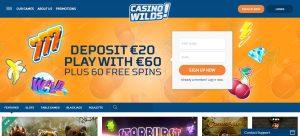 Casino Wilds Homepage