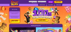 Fever Slots Casino Homepage