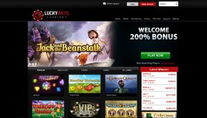 Lucky Bets Homepage