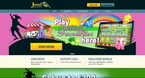 Jester Jackpots Casino Homepage