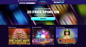 Magical Vegas Casino Homepage