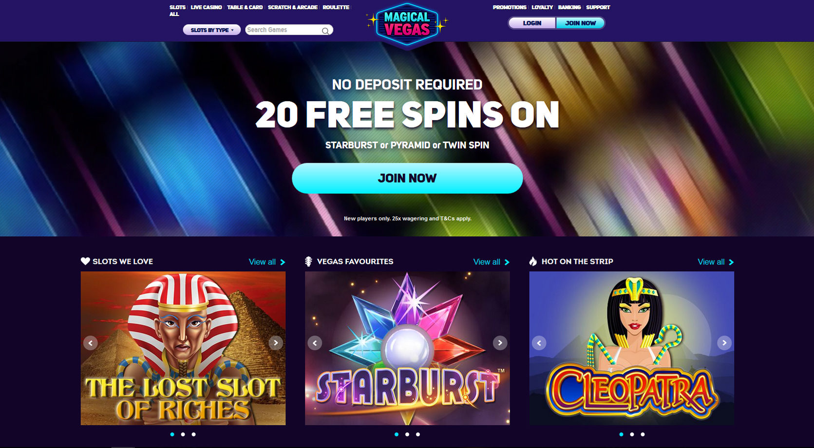 Magical vegas 20 free spins