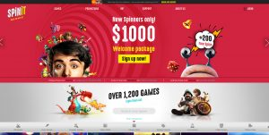 Spinit Casino Homepage