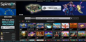 Spinson Casino Homepage