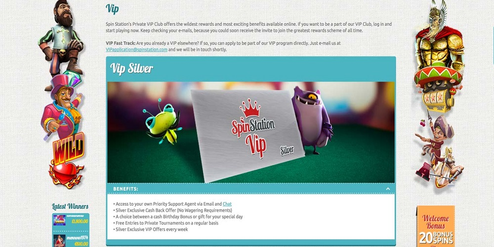 Spin Casino Loyalty Points